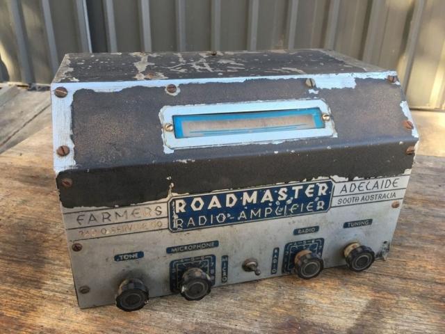 Farmers Radio Service Roadmaster Bus Radio/Amplifier 1949 Ex Murray Bridge Bus Service
