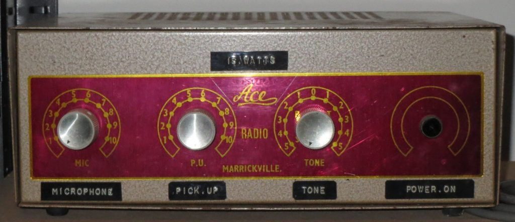 ACE Radio 1960's 15 Watts Via 2x EL84