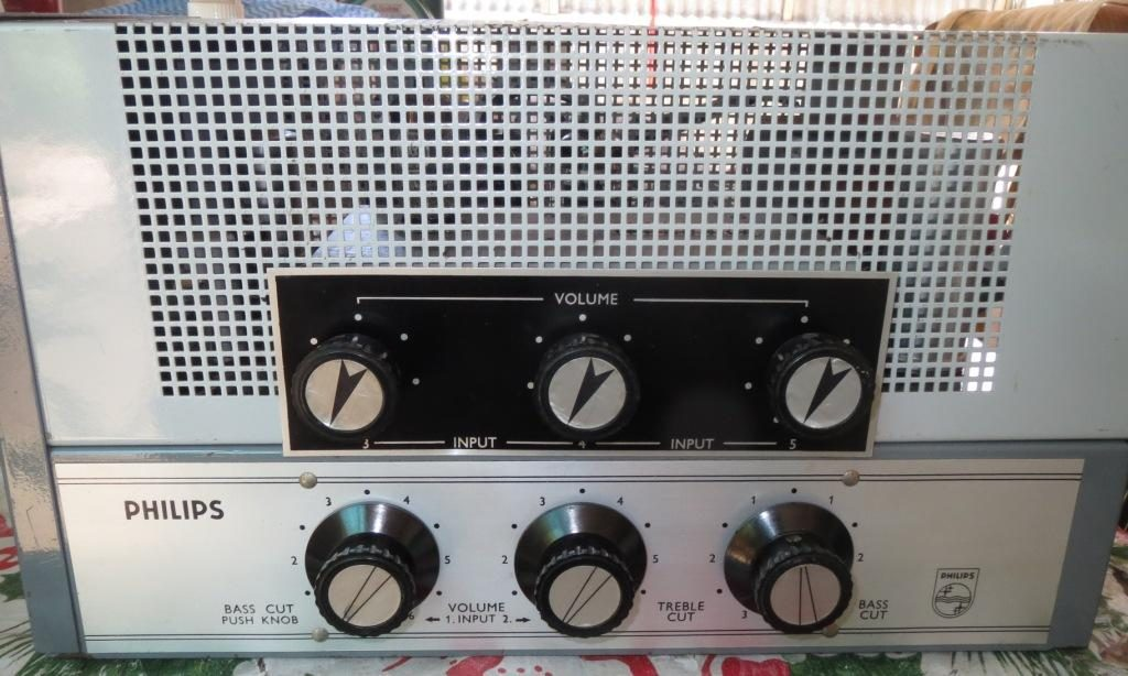 Philips EV4435a with 3CH Add On Mixer EV4403 30W Via 2 x 6CM5