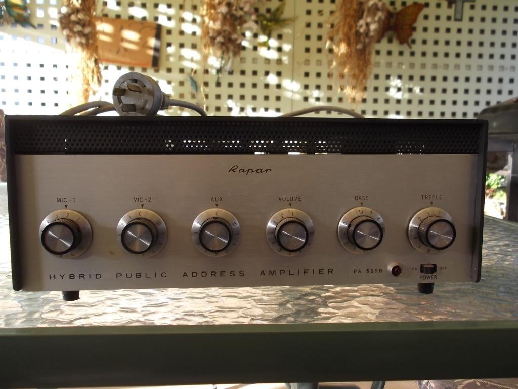 Rapar 1970 25w Via 4 x 6BQ5 Transitor Pre Amp