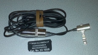Realistic 33-1056 Tie Electret Microphone